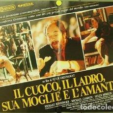 Cine: DE64D EL COCINERO EL LADRON SU MUJER Y SU AMANTE GREENAWAY SET 6 POSTERS ORIGINALES ITALIANOS 47X68. Lote 183602587