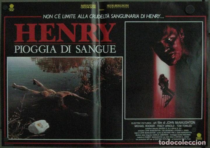 VF19D HENRY RETRATO DE UN ASESINO JOHN MCNAUGHTON MICHAEL ROOKER SET 6 POSTERS ORIG ITALIANOS 47X68 (Cine - Posters y Carteles - Terror)