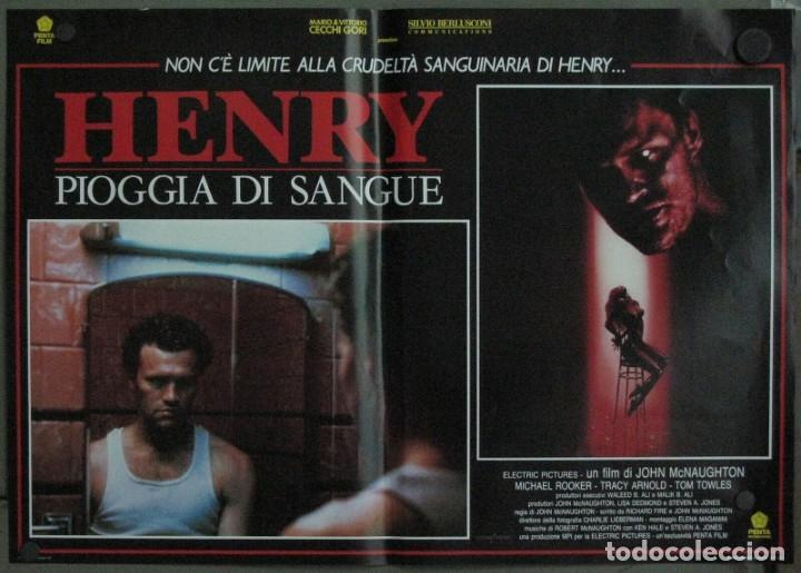 Cine: VF19D HENRY RETRATO DE UN ASESINO JOHN MCNAUGHTON MICHAEL ROOKER SET 6 POSTERS ORIG ITALIANOS 47X68 - Foto 2 - 183603790