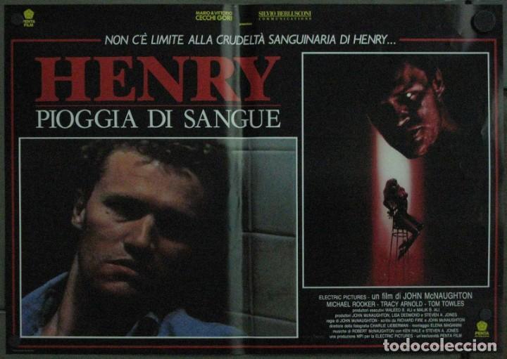 Cine: VF19D HENRY RETRATO DE UN ASESINO JOHN MCNAUGHTON MICHAEL ROOKER SET 6 POSTERS ORIG ITALIANOS 47X68 - Foto 3 - 183603790