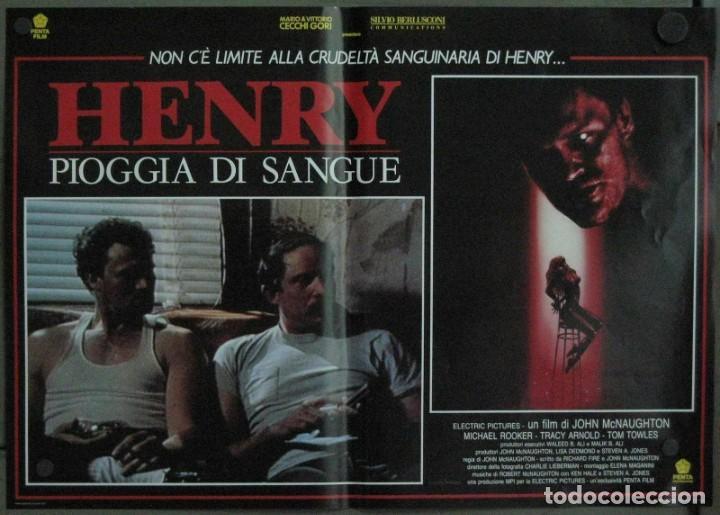 Cine: VF19D HENRY RETRATO DE UN ASESINO JOHN MCNAUGHTON MICHAEL ROOKER SET 6 POSTERS ORIG ITALIANOS 47X68 - Foto 4 - 183603790