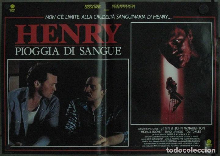 Cine: VF19D HENRY RETRATO DE UN ASESINO JOHN MCNAUGHTON MICHAEL ROOKER SET 6 POSTERS ORIG ITALIANOS 47X68 - Foto 5 - 183603790