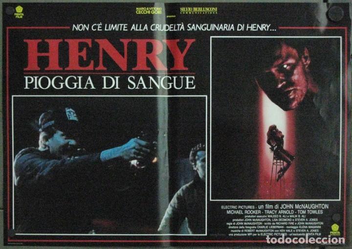 Cine: VF19D HENRY RETRATO DE UN ASESINO JOHN MCNAUGHTON MICHAEL ROOKER SET 6 POSTERS ORIG ITALIANOS 47X68 - Foto 6 - 183603790
