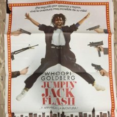 Cinema: CARTEL ORIGINAL CINE 70 X 100 CM APROX WHOOPI GOLDBERG JUMPIN' JACK FLASH. Lote 183615162