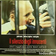 Cine: CY22D EL SILENCIO DE LOS CORDEROS ANTHONY HOPKINS JODIE FOSTER SET 4 POSTERS ORIGINAL ITALIANO 47X68. Lote 183619795