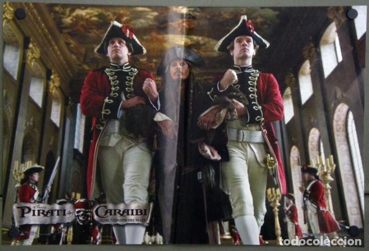 TY05D PIRATAS DEL CARIBE 4 EN MAREAS MISTERIOSAS JOHNNY DEPP SET 4 POSTER ORIGINALES ITALIANOS 47X68 (Cine - Posters y Carteles - Aventura)