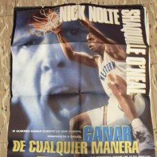 Cinema: CARTEL ORIGINAL CINE 70 X 100 CM APROX NICK NOLTE BALONCESTO GANAR DE CUALQUIER MANERA. Lote 183634246