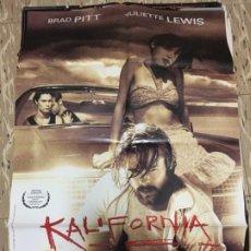Cinema: CARTEL ORIGINAL CINE 70 X 100 CM APROX BRAD PITT JULIETTE LEWIS KALIFORNIA. Lote 183634416