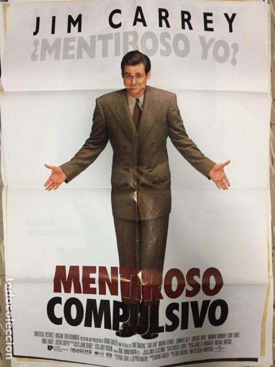 CARTEL ORIGINAL CINE 70 X 100 CM APROX JIM CARREY MENTIROSO COMPULSIVO (Cine - Posters y Carteles - Comedia)