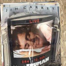 Cine: CARTEL ORIGINAL CINE 70 X 100 CM APROX JIM CARREY EL SHOW DE TRUMAN (UNA VIDA EN DIRECTO). Lote 183642407