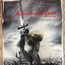 Cinema: CARTEL ORIGINAL CINE 70 X 100 CM APROX LUC BESSON MILLA JOVOVICH JUANA DE ARCO. Lote 183643610