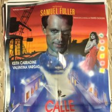 Cinema: CARTEL ORIGINAL CINE 70 X 100 CM APROX SAMUEL FULLER KEITH CARRADINE CALLE SIN RETORNO. Lote 183643737
