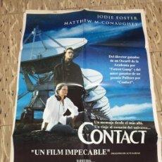 Cine: CARTEL ORIGINAL CINE 70 X 100 CM APROX JODIE FOSTER CONTACT. Lote 183646487