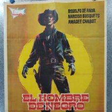 Cinéma: EL HOMBRE DE NEGRO. RODOLFO DE ANDA, NARCISO BUSQUETS, JORGE RUSSEK AÑO 1971 . POSTER ORIGINAL. Lote 183691067