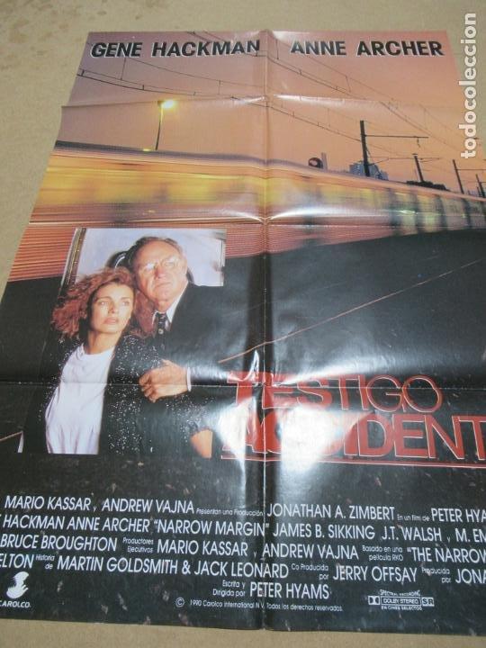 TESTIGO ACCIDENTAL 100 X 70 CM. PEDIDO MÍNIMO 5 EUROS (Cine - Posters y Carteles - Suspense)