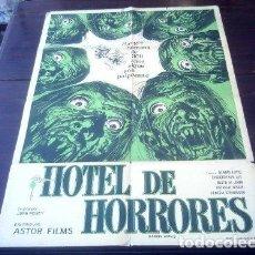 Cine: POSTER ORIGINAL SUDAMERICANO DE HOTEL DE HORRORES HORROR HOTEL O CITY OF THE DEAD DE JOHN MOXEY 1960. Lote 183714067
