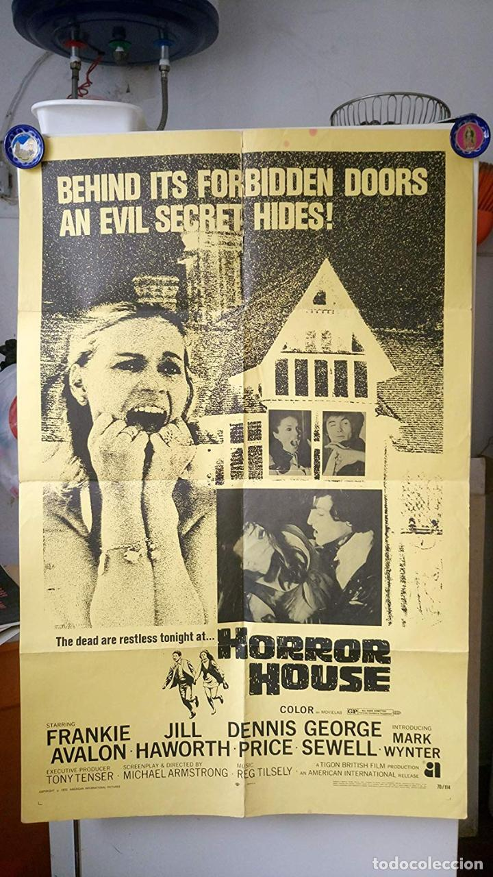 ORIGINAL POSTER THE HAUNTED HOUSE OF HORROR HOUSE FRANKIE AVALON (Cine - Posters y Carteles - Terror)
