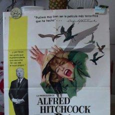 Cine: ORIGINAL SPANISH POSTER THE BIRDS LOS PAJAROS ALFRED HITCHCOCK TIPPI HEDREN 1963. Lote 183733936