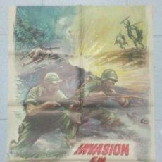 Cine: INVASIÓN EN BIRMANIA - POSTER ORIGINAL CINE 1963.. Lote 183736201
