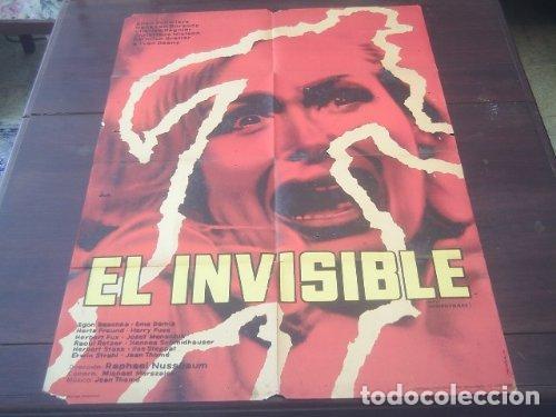 POSTER ORIGINAL ARGENTINO DER UNSICHTBARE EL HOMBRE INVISIBLE THE INVISIBLE TERROR RAPHAEL NUSSBAUM (Cine - Posters y Carteles - Terror)