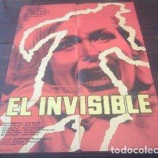 Cine: POSTER ORIGINAL ARGENTINO DER UNSICHTBARE EL HOMBRE INVISIBLE THE INVISIBLE TERROR RAPHAEL NUSSBAUM. Lote 183739826