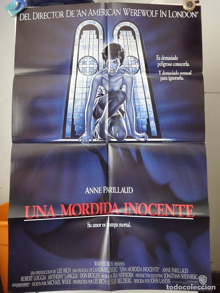 POSTER ORIGINAL INNOCENT BLOOD UNA MORDIDA INOCENTE ANNE PARILLAUD JOHN LANDIS RENAT CASARO 1992 (Cine - Posters y Carteles - Terror)
