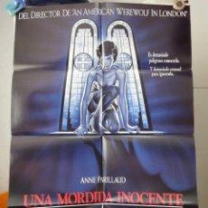 Cine: POSTER ORIGINAL INNOCENT BLOOD UNA MORDIDA INOCENTE ANNE PARILLAUD JOHN LANDIS RENAT CASARO 1992. Lote 183742733