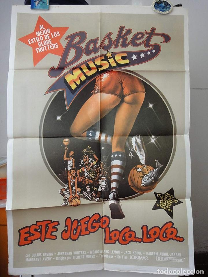 POSTER ORIGINAL ESTE JUEGO LOCO LOCO THE FISH THAT SAVED PITTSBURGH BASKET MUSIC GLOBE TROTTERS 1979 (Cine - Posters y Carteles - Deportes)
