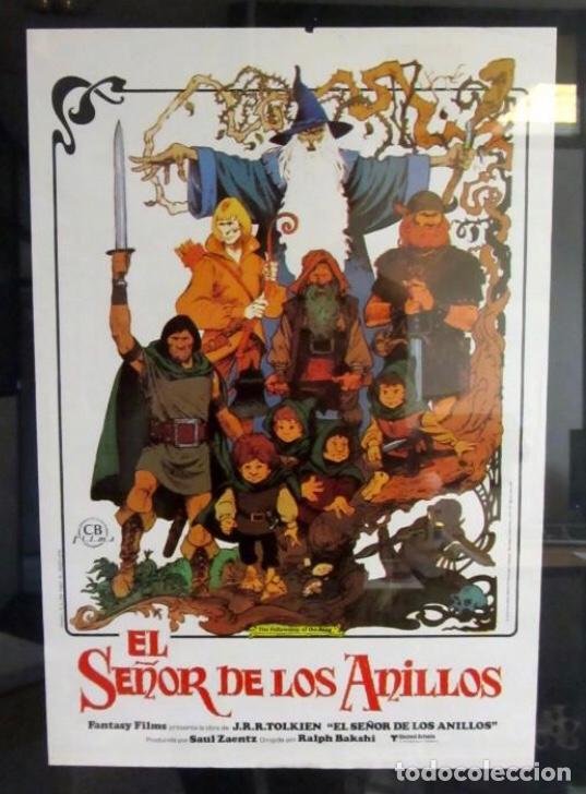 EL SEÑOR DE LOS ANILLOS. CARTEL ORIGINAL DE LA PELÍCULA DE ANIMACIÓN DE 1978. (Cine - Posters y Carteles - Ciencia Ficción)