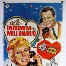 Cine: LA INDÓMITA Y EL MILLONARIO. JACK LEMMON, DORIS DAY. CARTEL ORIGINAL DE ESTRENO (1959).. Lote 183814571