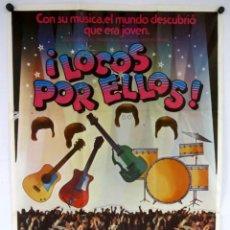 Cine: LOCOS POR ELLOS (I WANNA HOLD YOUR HAND). THE BEATLES. CARTEL ORIGINAL ROBERT ZEMECKIS 1978.. Lote 183814936