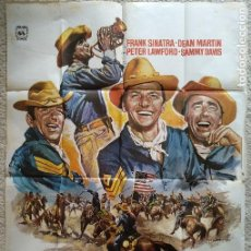 Cine: CARTEL ANUNCIADOR DE LA PELICULA 'TRES SARGENTOS' (1962). 100 X 70 CM.. Lote 183817138