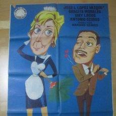 Cine: CARTEL CINE CHICA PARA TODO GRACITA MORALES ANTONIO OZORES JANO 1963 C1647. Lote 183829021