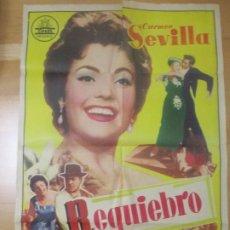 Cine: CARTEL CINE REQUIEBRO CARMEN SEVILLA ANGEL MAGAÑA 1958 C1649. Lote 183830347
