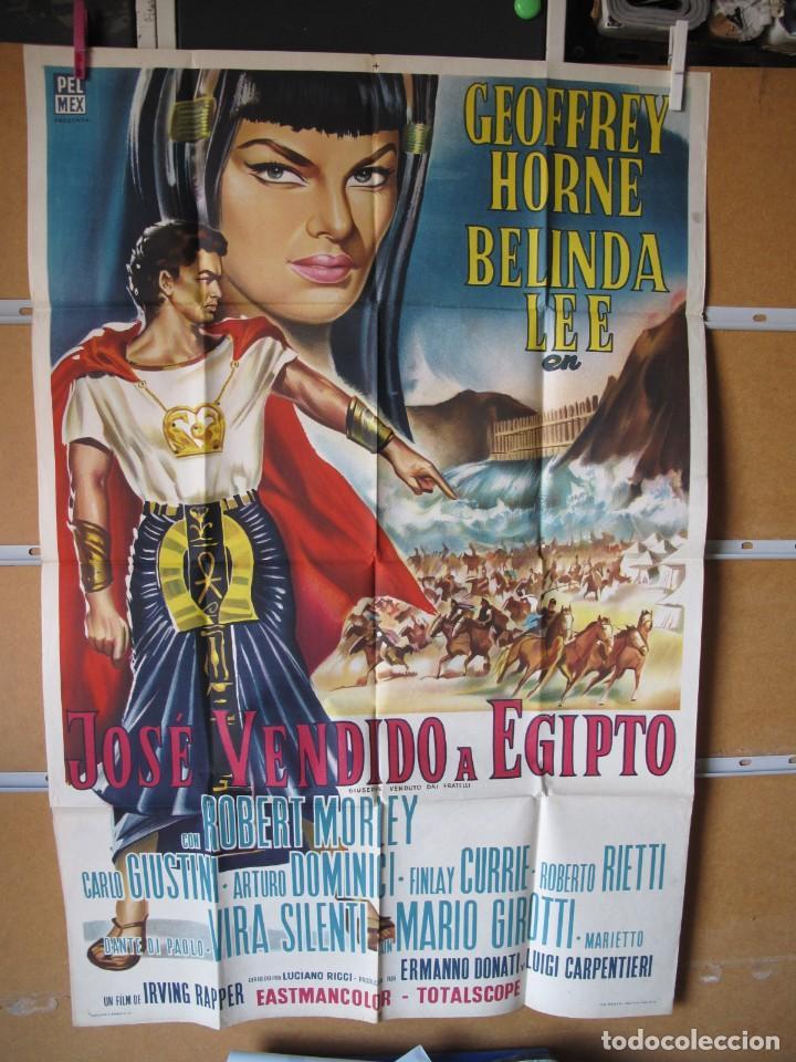 POSTER DE CINE ORIGINAL JOSE VENDIDO A EGIPTO (Cine - Posters y Carteles - Aventura)