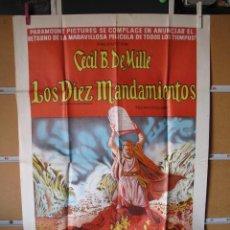 Cine: POSTER DE CINE ORIGINAL LOS DIEZ MANDAMIENTOS. Lote 183869611