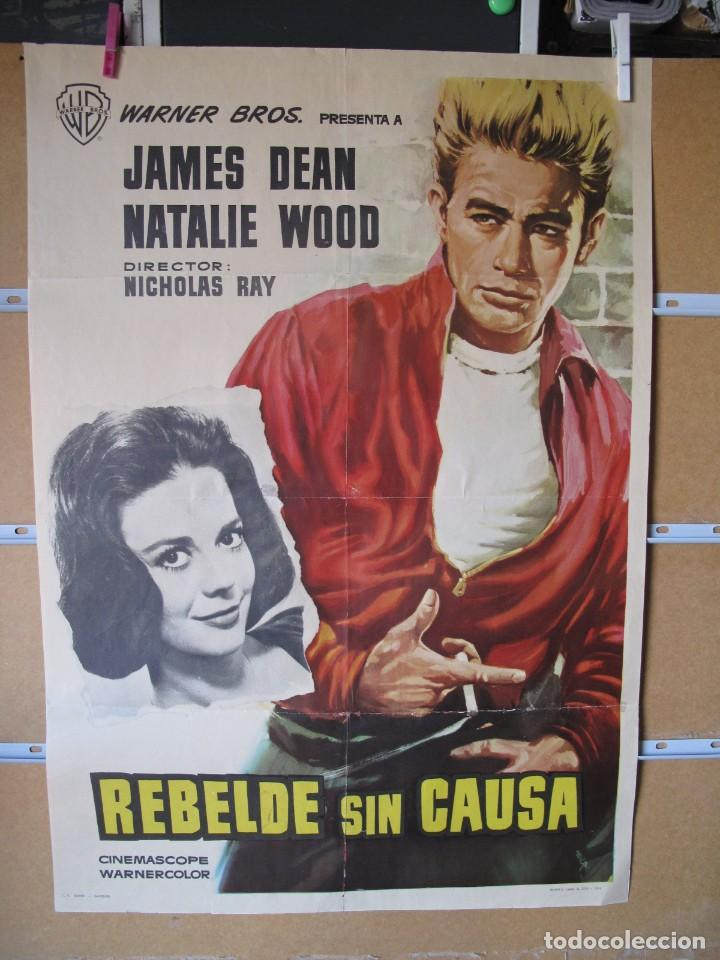 POSTER DE CINE ORIGINAL REBELDE SIN CAUSA (Cine - Posters y Carteles - Aventura)