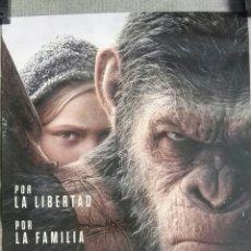 Cine: LA GUERRA DEL PLANETA DE LOS SIMIOS PÓSTER 48X70CM. Lote 183894881