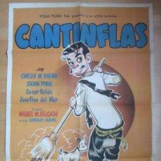 Cine: CARTEL CINE EL PORTERO CANTINFLAS MARIO MORENO CARLOS M. BAENA C1673. Lote 183914008