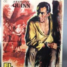 Cine: EL RETORNO DEL FORAJIDO - ANTHONY QUINN, WILLIAM CONRAD, LITA MILAN - ILUST. SOLIGO - AÑO 1962. Lote 183930447