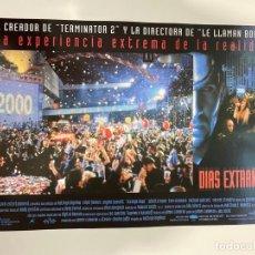 Cine: AFICHE DE CINE. PELICULA DIAS EXTRAÑOS. MEDIDAS APROX.: 34 X 24 CM. Lote 183937477