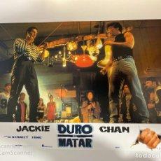 Cine: AFICHE DE CINE. PELICULA: DURO DE MATAR. JACKIE CHAN. MEDIDAS APROX.: 34 X 24 CM. Lote 183951338