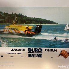 Cine: AFICHE DE CINE. PELICULA: DURO DE MATAR. JACKIE CHAN. MEDIDAS APROX.: 34 X 24 CM. Lote 183951383