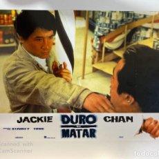 Cine: AFICHE DE CINE. PELICULA: DURO DE MATAR. JACKIE CHAN. MEDIDAS APROX.: 34 X 24 CM. Lote 183951390