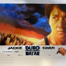 Cinema: AFICHE DE CINE. PELICULA: DURO DE MATAR. JACKIE CHAN. MEDIDAS APROX.: 34 X 24 CM. Lote 183951522