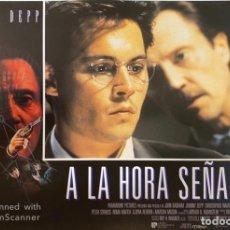 Cine: AFICHE DE CINE. PELICULA: A LA HORA SEÑALADA. JOHNNY DEEP. MEDIDAS APROX.: 34 X 24 CM. Lote 183951967