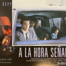 Cine: AFICHE DE CINE. PELICULA: A LA HORA SEÑALADA. JOHNNY DEEP. MEDIDAS APROX.: 34 X 24 CM. Lote 183952121