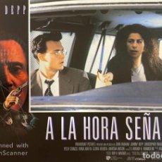 Cine: AFICHE DE CINE. PELICULA: A LA HORA SEÑALADA. JOHNNY DEEP. MEDIDAS APROX.: 34 X 24 CM. Lote 183952133