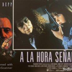 Cine: AFICHE DE CINE. PELICULA: A LA HORA SEÑALADA. JOHNNY DEEP. MEDIDAS APROX.: 34 X 24 CM. Lote 183952143