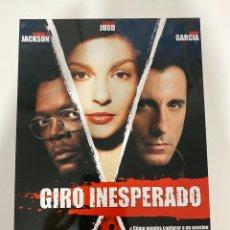 Cine: AFICHE DE CINE. PELICULA: GIRO INESPERADO. MEDIDAS APROX.: 21 X 30 CM. Lote 183953043